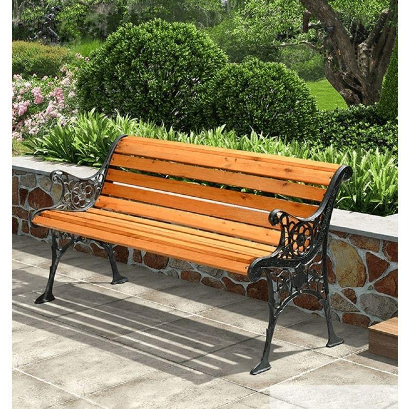 Ghế công viện gang đúc phù hợp cho nhiều không gian sân vườn