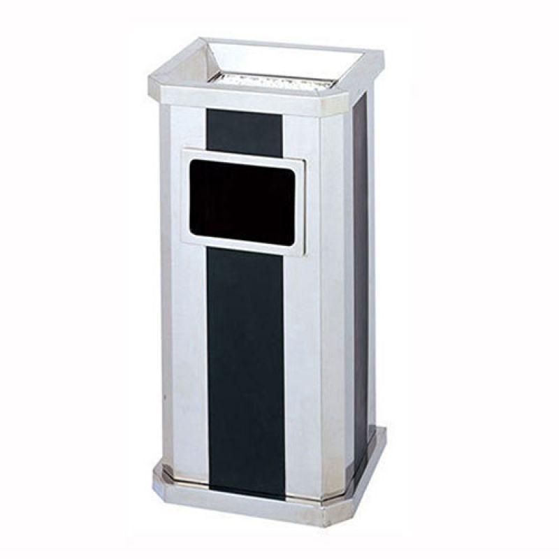 thùng rác bằng inox khối chữ nhật