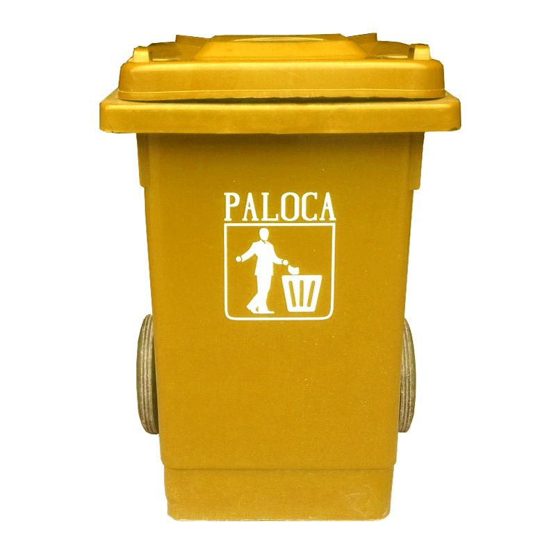 Thùng rác nhựa y tế 80L màu vàng