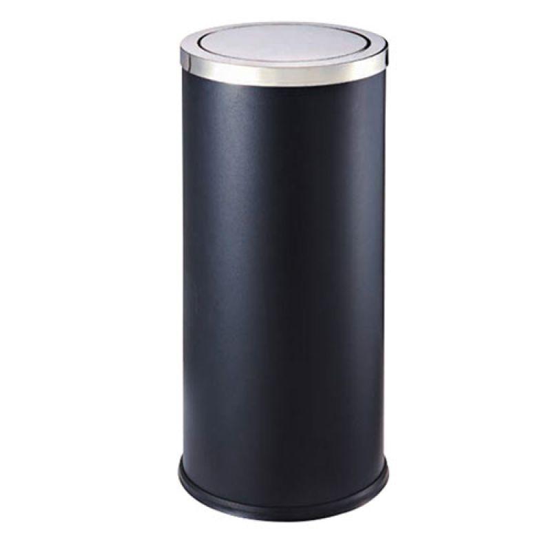 Thùng rác phun sơn đen nắp lật A35-F
