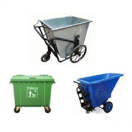 Kích thước xe thu gom rác, xe đẩy rác