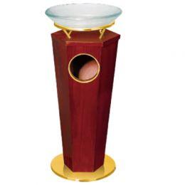 Thùng rác gỗ - khay thủy tinh A76