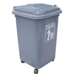 Thùng rác nhựa 60L màu ghi HDPE