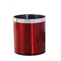Thùng rác thép phun sơn nâu đỏ