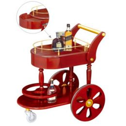 Mua bán giá để rượu bằng gỗ có bánh xe cao cấp