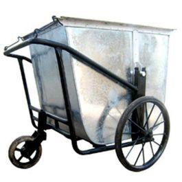 xe gom rác bằng tôn mạ kẽm 3 bánh