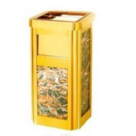 Thùng rác inox vàng đá hoa cương