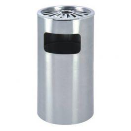 Thùng rác inox tròn có gạt tàn B-131-03