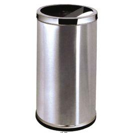 Thùng rác inox tròn có gạt tàn