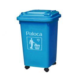 Thùng rác nhựa 60L xanh da trời