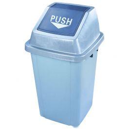 Thùng rác nhựa nắp đẩy 60 lít màu xanh