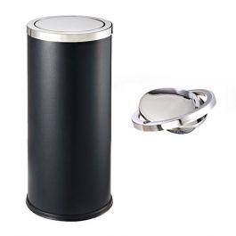 Thùng rác tròn nắp lật A35-O màu đen