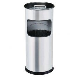 Thùng rác inox có gạt tàn hình tròn