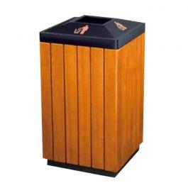 Thùng rác ngoài trời bọc gỗ A78-M