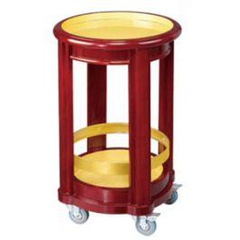 Kệ để rượu bằng gỗ có bánh xe