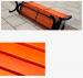 Ghế băng công viên có tựa bằng gỗ thiết kế bằng gỗ thịt, tránh mối mọt, cong vênh