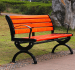 Ghế băng công viên có tựa bằng gỗ ứng dụng được cho nhiều không gian khác nhau như resort, khu du lịch, công ty