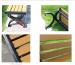 Chất liệu cao cấp ghế băng công viên Composite