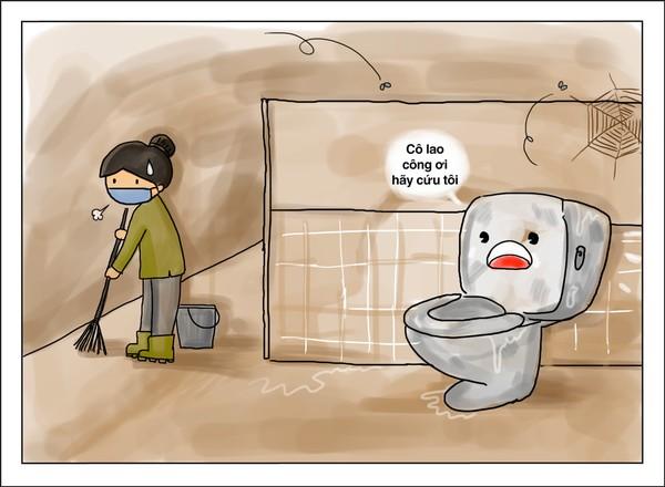 Bồn cầu phải luôn được vệ sinh sạch sẽ để đảm bảo sức khỏe cho học sinh