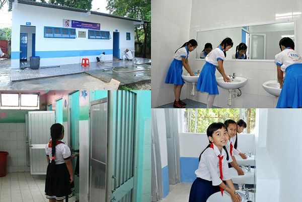 Bồn rửa tay là thiết bị cần thiết cho nhà vệ sinh đạt tiêu chuẩn