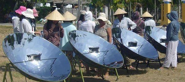 Thử nghiệm bếp năng lượng mặt trời tại nông thôn