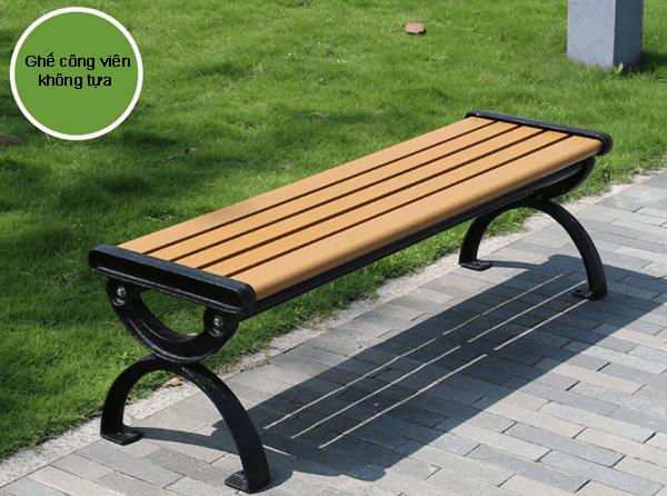 Ghế băng công viên composite không tựa thiết kế trẻ trung, năng động, địa điểm nghỉ chân lý tưởng nơi công cộng