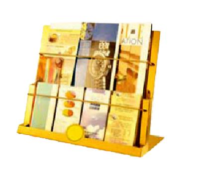Giá để tạp chí inox vàng cỡ lớn