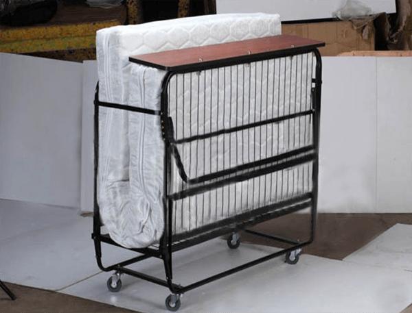 Giường gấp khách sạn nệm trắng dày 10cm có thể gấp gọn, tiện lợi khi vận chuyển, tiết kiệm không gian khi lưu trữ