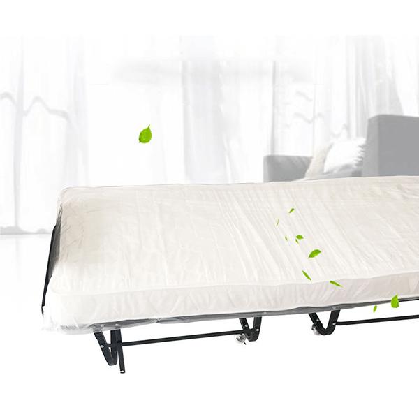 Giường phụ khách sạn nệm mút trắng dày 10cm, thiết kế trang nhã