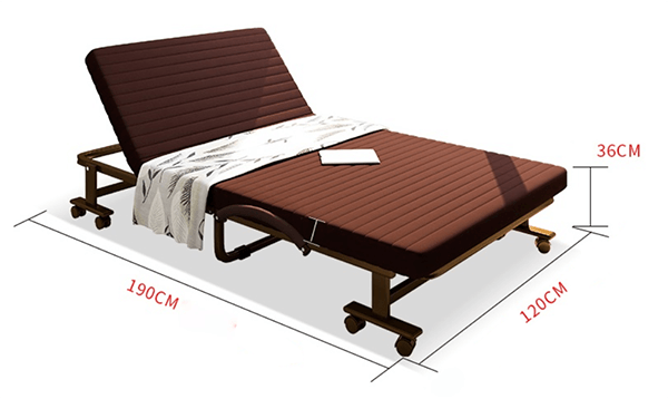 Giường phụ khách sạn cao cấp với kích thước khá lớn cho các không gian trống lớn của phòng