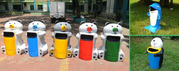 Một số mẫu thùng rác hình con vật ngộ nghĩnh