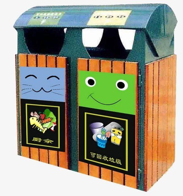 Thùng rác 2 ngăn được trang trí cực dễ thương