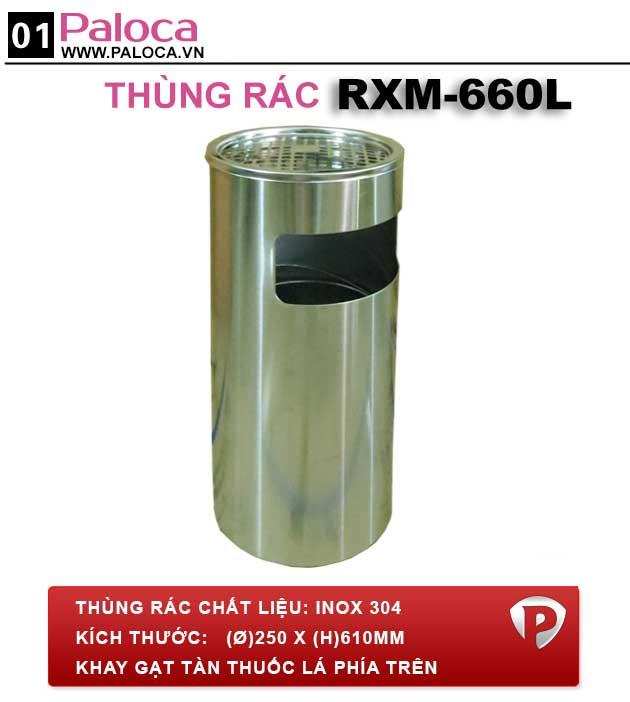 Thùng đựng rác inox A35-B