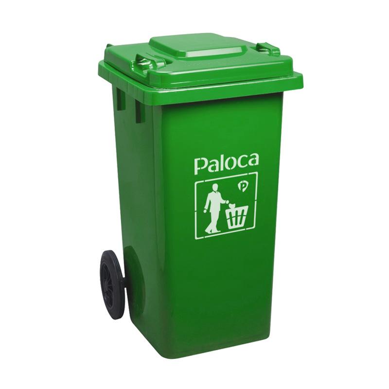 Thùng rác 120L màu xanh lá