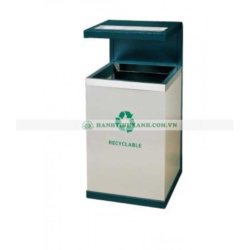 thùng rác bằng kim loại
