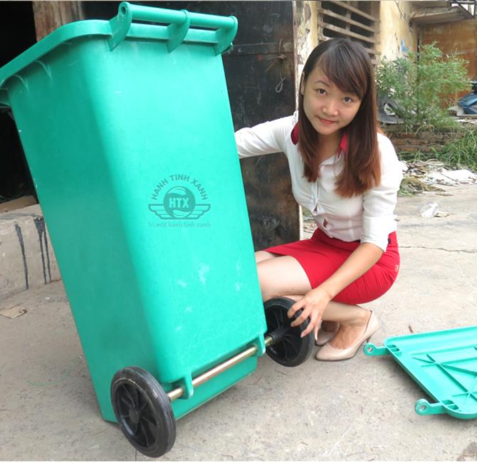 Thùng rác composite nhập khẩu 120 lít