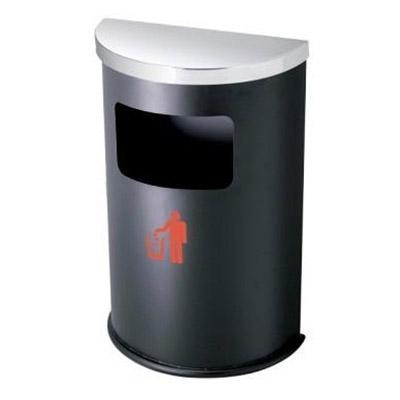 Thùng rác inox bán nguyệt đen