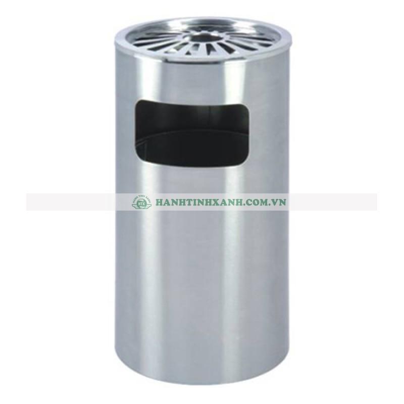 thùng rác inox có gạt tàn