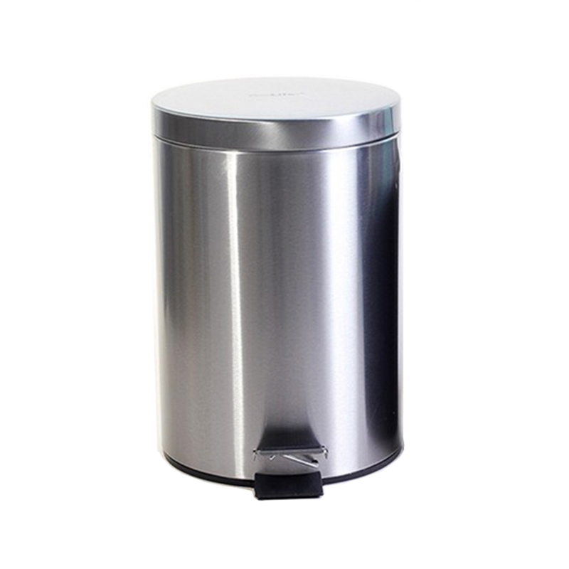 Thùng rác inox có đạp chân 8 Lít