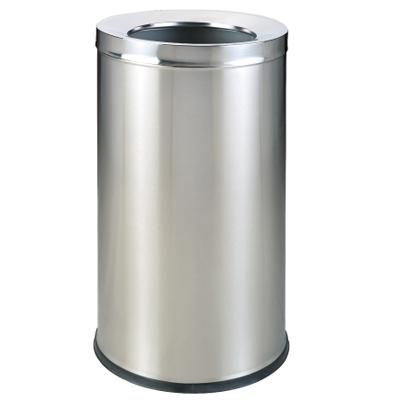 thùng rác inox trắng