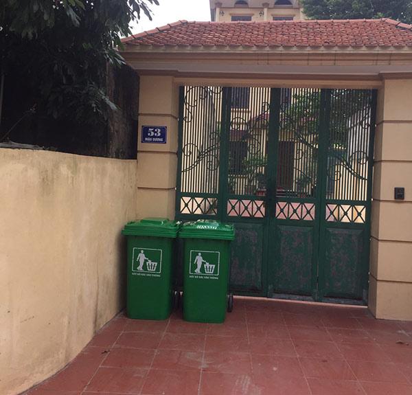 Vị trí đặt thùng rác