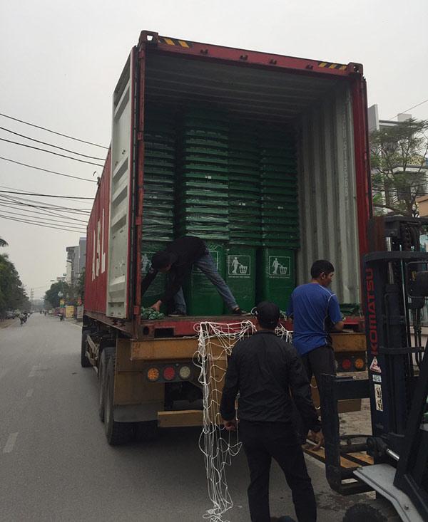 Vận chuyển thùng rác