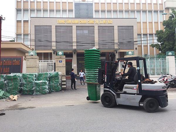 Cung cấp thùng rác cho thị xã Mỹ Hào