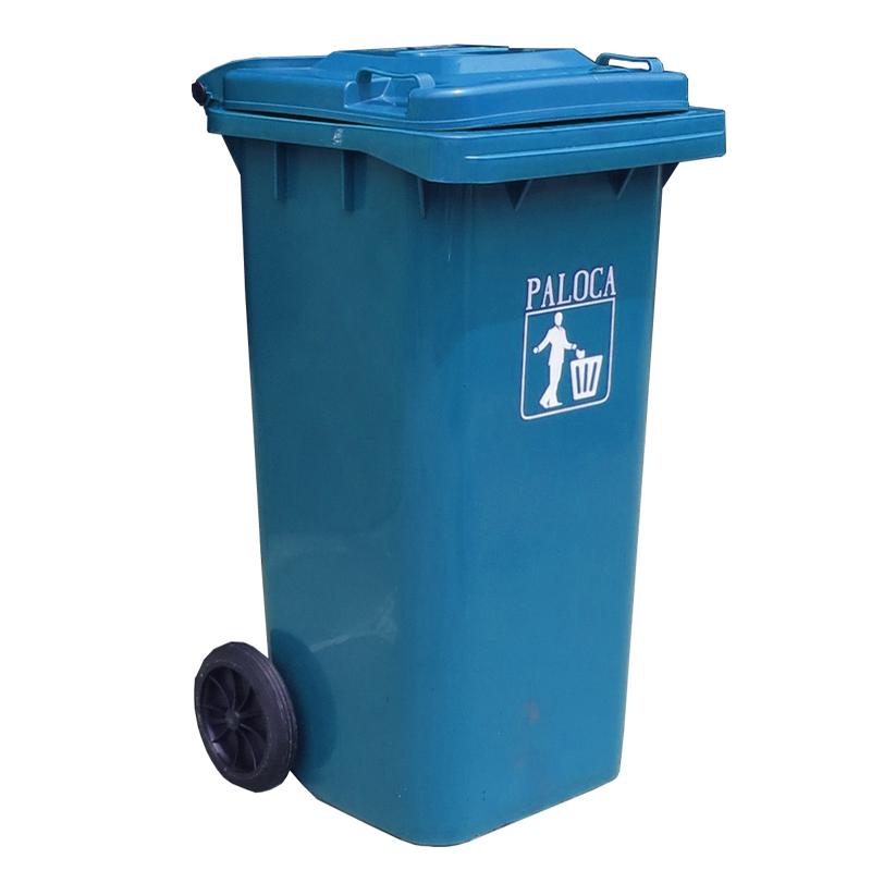 Thùng rác nhựa 120L màu xanh da trờ