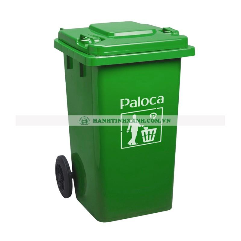 Thùng rác nhựa 240L HDPE màu xanh lá