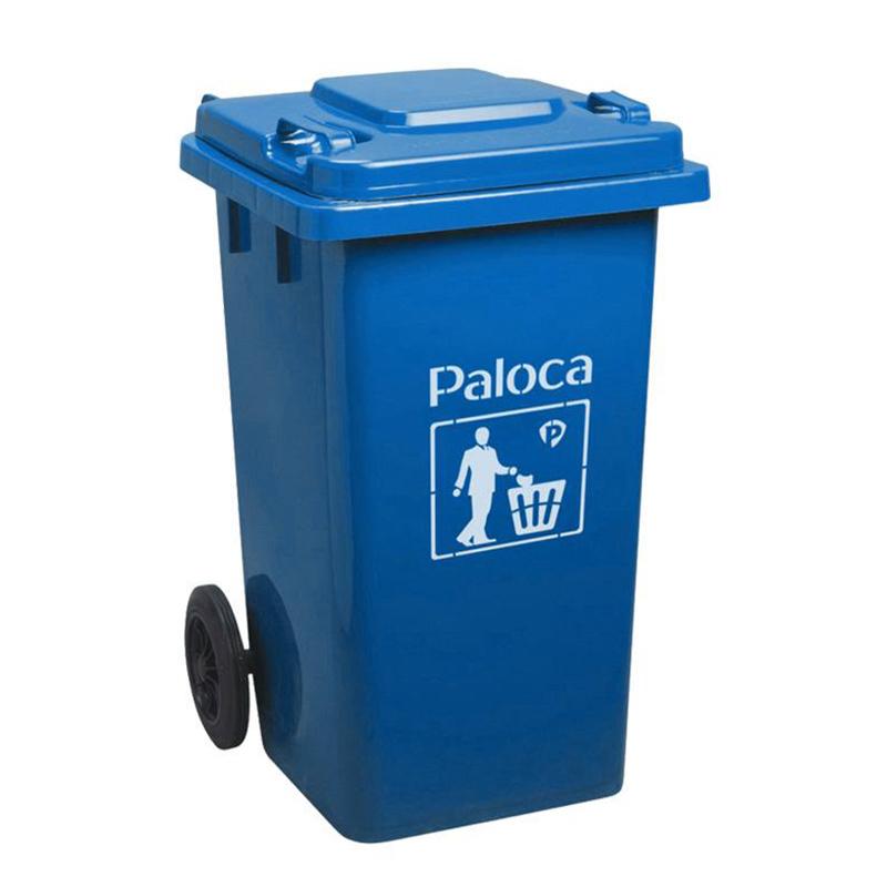 Thùng rác nhựa 240L màu xanh da trời