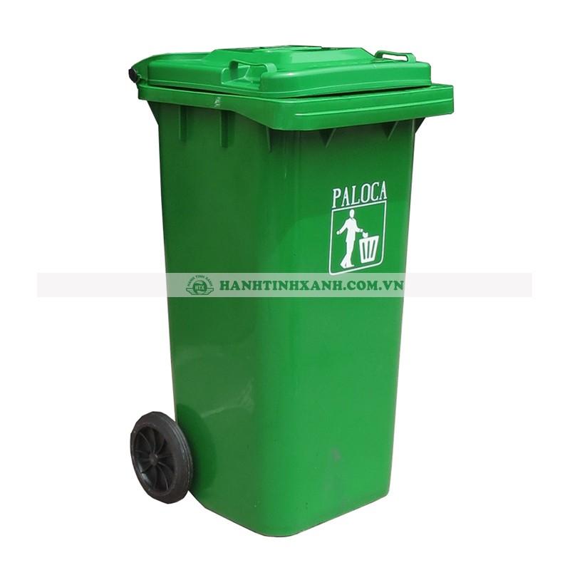 Thùng rác nhựa 80L màu xanh lá
