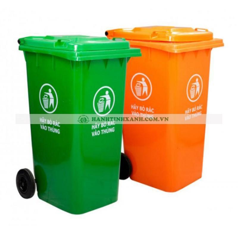 Thùng rác có nắp đậy nhựa