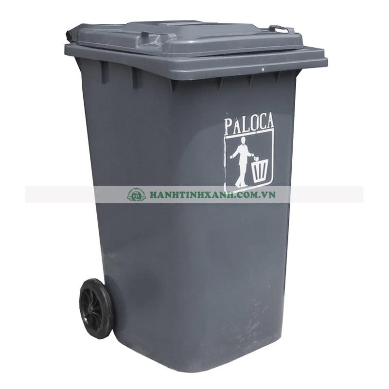 Thùng rác nhựa HDPE 80L màu ghi