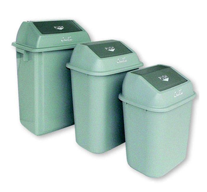 Thùng rác nhựa có nắp lật